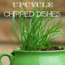 How to Up-cycle Chipped Dishes