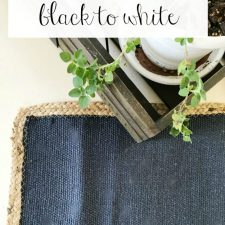 Paint the kitchen table white | before and after