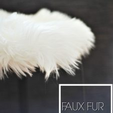How to Make a Faux Fur Side Table in Minutes