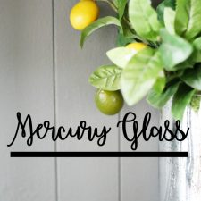 How to Create Mercury Glass Accessories
