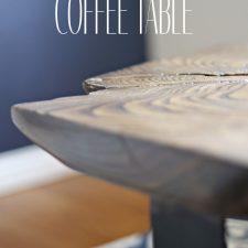 How to Make a Live Edge Coffee Table