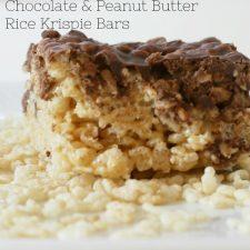 Chocolate & Peanut Butter Rice Krispie Bars