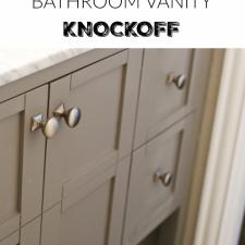 Pottery Barn Bathroom Vanity Knockoff