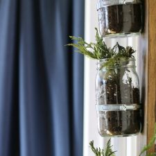 How to Add Vertical Mason Jars to a Wall