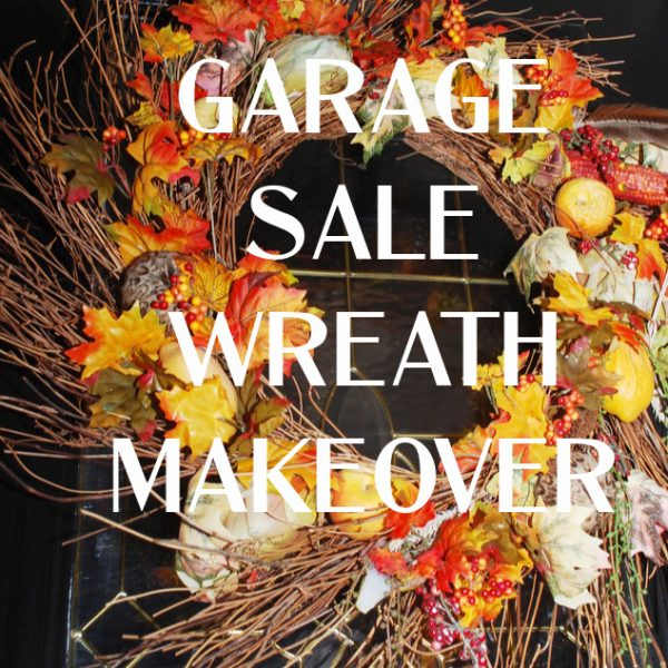 Garage Sale Wreath Makeover