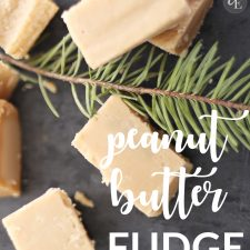 5 Ingredient Peanut Butter Fudge
