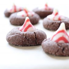 Peppermint Kiss Valentine Cookies