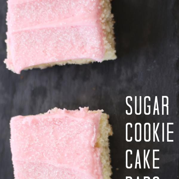 Sugar Cookie Cake Bars