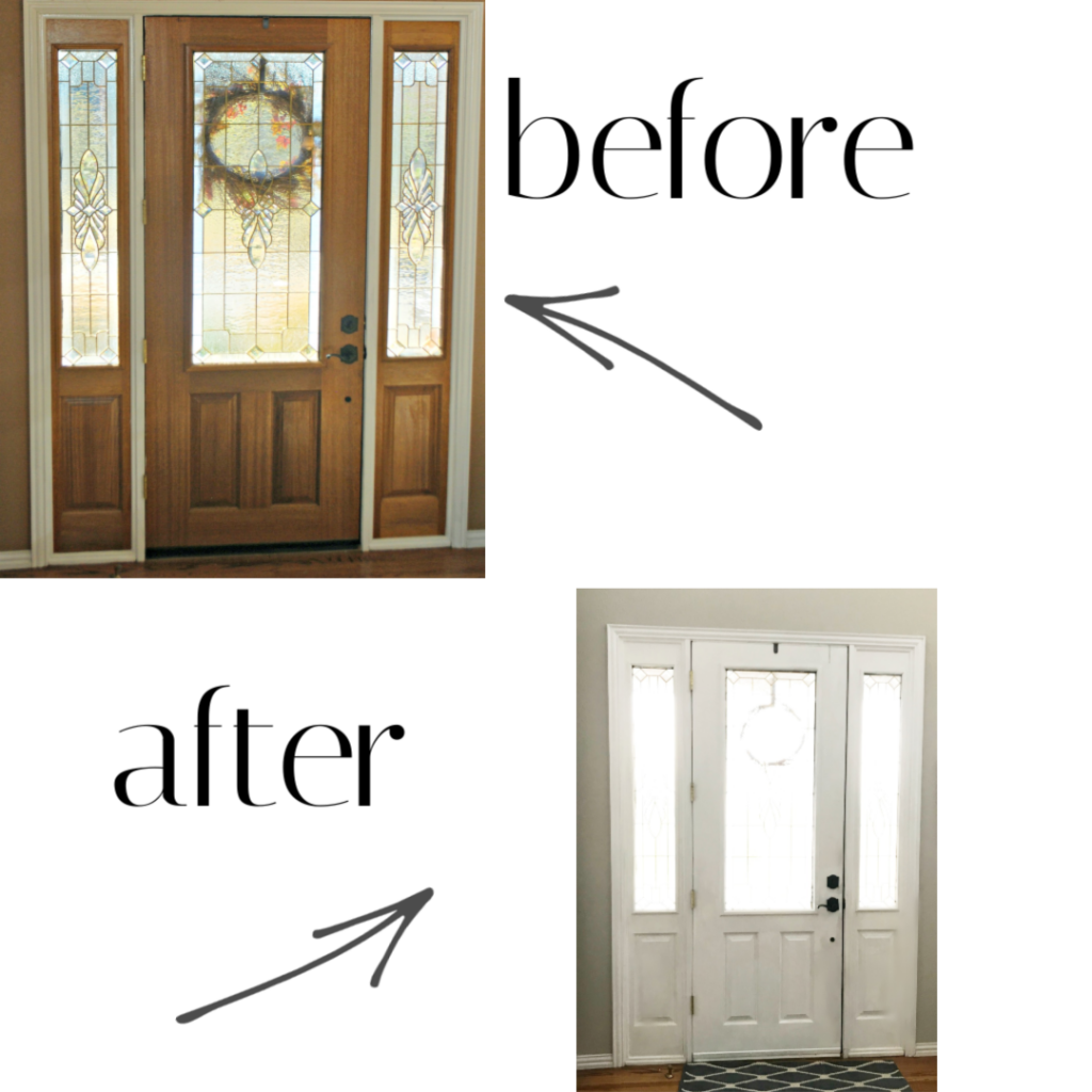 how-to-paint-stained-door
