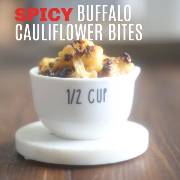 Spicy Buffalo Cauliflower Bites