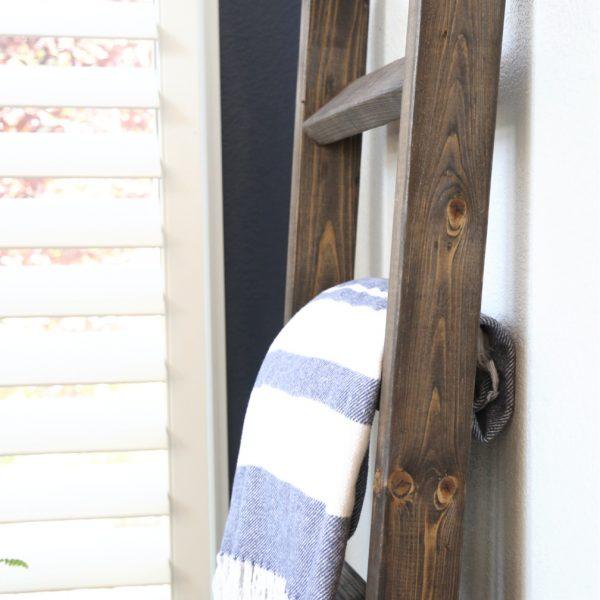Handmade Farmhouse  Wood Blanket Ladder