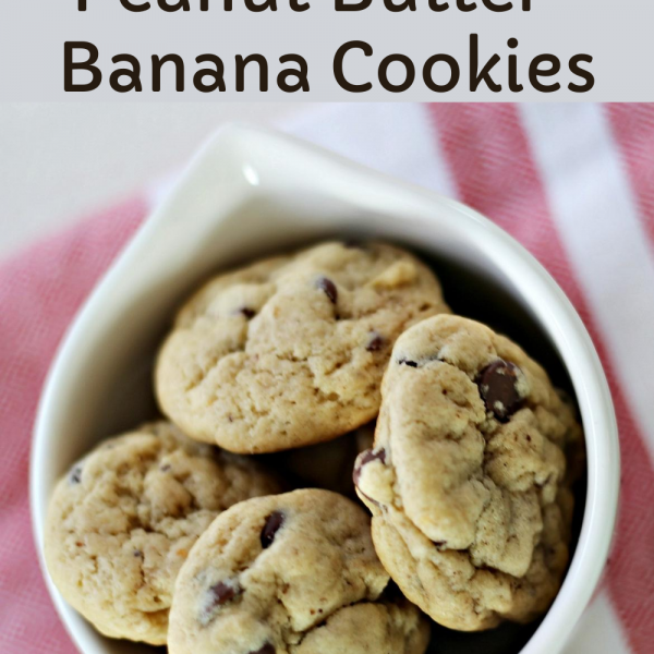 Chocolate Chip Peanut Butter-Banana Cookies