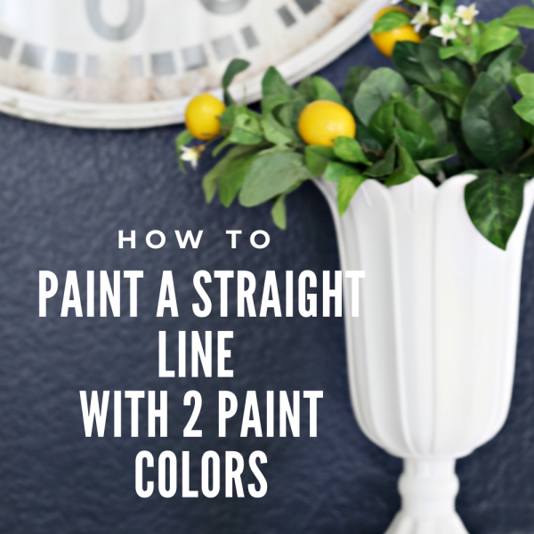 How to Paint a Straight Line with Two Colors + Video