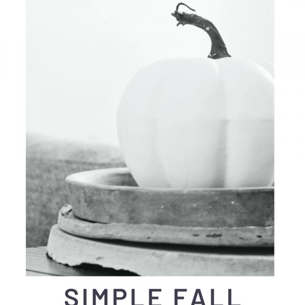 5 Simple Fall Tablescape Ideas