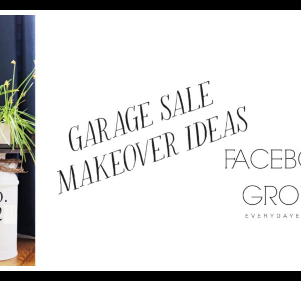 Facebook Page for Garage Sale Makeover Ideas