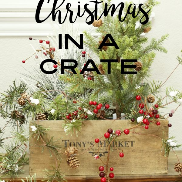 CHRISTMAS CRATE FOR THE ENTRY  PINTEREST CHALLENGE