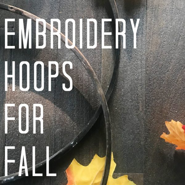 Embroidery Hoops for Pumpkins