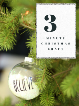 3 MINUTE CHRISTMAS ORNAMENT CRAFT