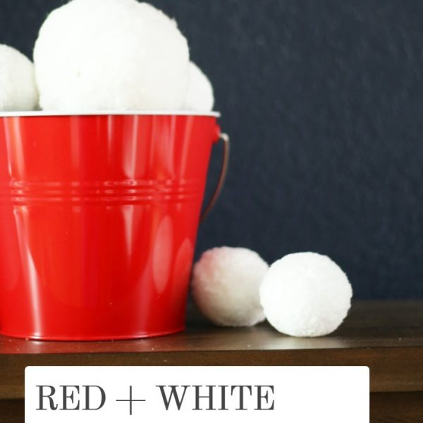 RED AND WHITE WINTER DECOR