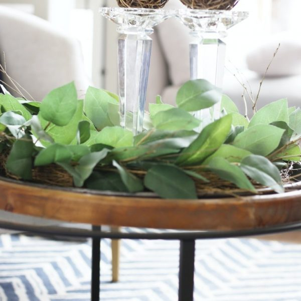 POTTERY BARN KNOCKOFF GLASS COFFEE TABLE