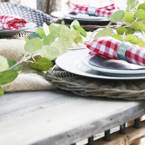SUMMER PATIO TABLE PINTEREST CHALLENGE