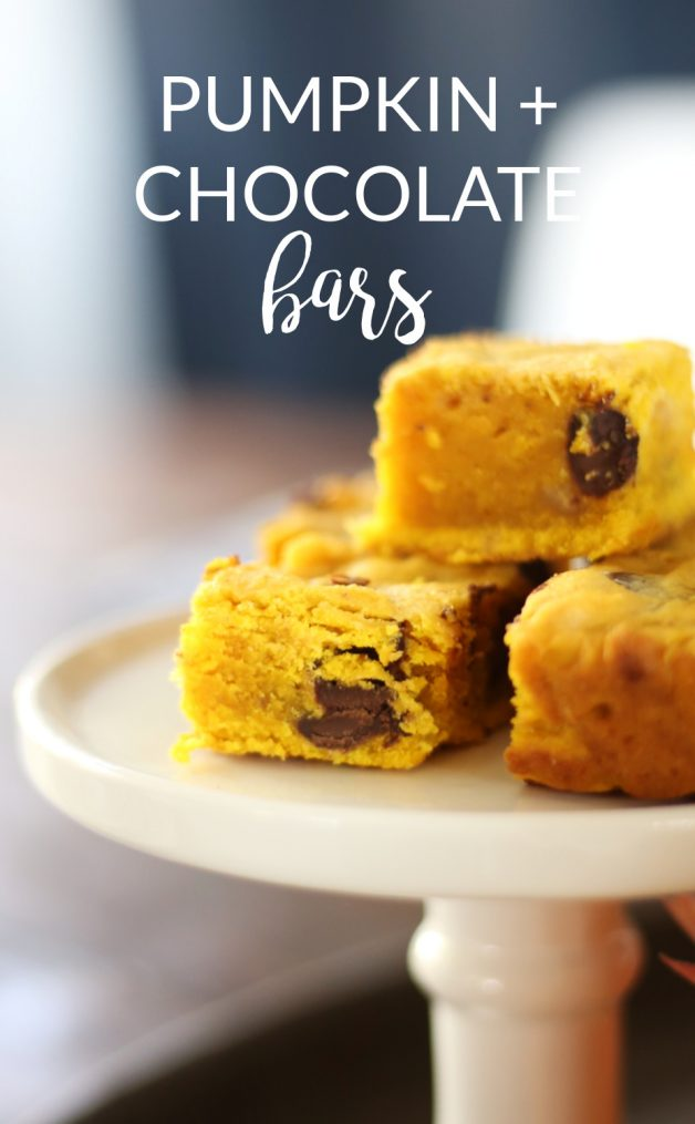 pumpkin and chocolate bars for fall