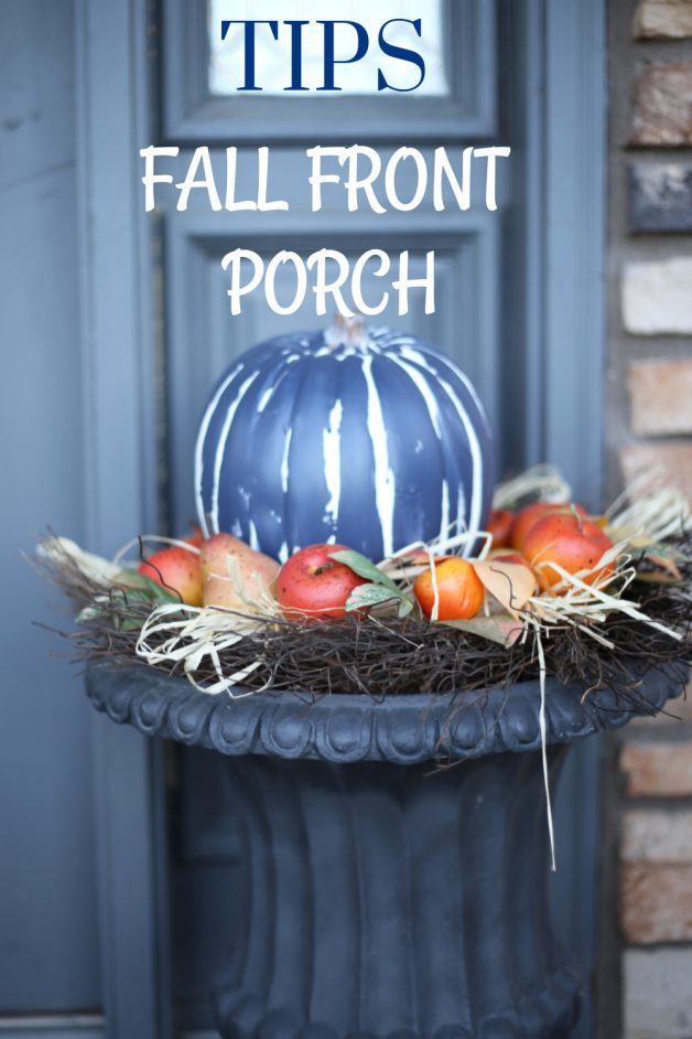 tips for a fall front porch, small porch